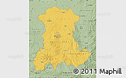 Savanna Style Map of Auvergne