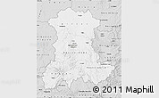 Silver Style Map of Auvergne