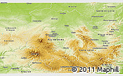 Physical Panoramic Map of Auvergne