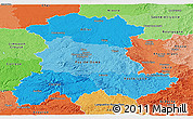 Political Shades Panoramic Map of Auvergne