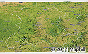 Satellite Panoramic Map of Auvergne