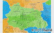Political Shades 3D Map of Puy-de-Dôme