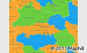 Political Simple Map of Puy-de-Dôme