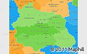 Political Shades Simple Map of Puy-de-Dôme