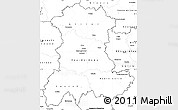 Blank Simple Map of Auvergne