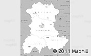 Gray Simple Map of Auvergne