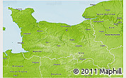 Physical 3D Map of Basse-Normandie