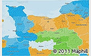 Political 3D Map of Basse-Normandie