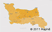 Political Shades 3D Map of Basse-Normandie, cropped outside