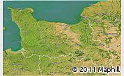 Satellite 3D Map of Basse-Normandie