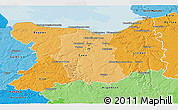 Political Shades 3D Map of Calvados