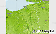 Physical Map of Lisieux
