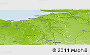 Physical Panoramic Map of Lisieux