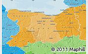 Political Shades Map of Calvados