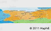 Political Shades Panoramic Map of Calvados