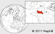 Blank Location Map of Basse-Normandie