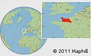 Savanna Style Location Map of Basse-Normandie