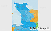 Political Shades 3D Map of Manche