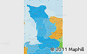 Political Shades Map of Manche