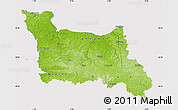 Physical Map of Basse-Normandie, cropped outside