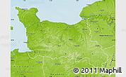 Physical Map of Basse-Normandie