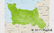 Physical Map of Basse-Normandie, shaded relief outside