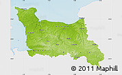Physical Map of Basse-Normandie, single color outside