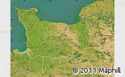 Satellite Map of Basse-Normandie