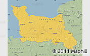 Savanna Style Map of Basse-Normandie