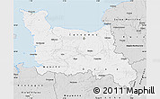 Silver Style Map of Basse-Normandie