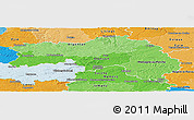 Political Shades Panoramic Map of Orne