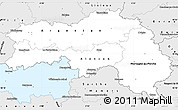 Silver Style Simple Map of Orne