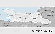 Gray Panoramic Map of Basse-Normandie