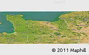 Satellite Panoramic Map of Basse-Normandie