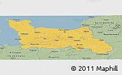 Savanna Style Panoramic Map of Basse-Normandie