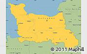 Savanna Style Simple Map of Basse-Normandie
