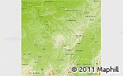 Physical 3D Map of Bourgogne