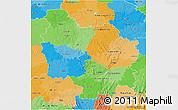 Political 3D Map of Bourgogne