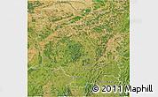 Satellite 3D Map of Bourgogne