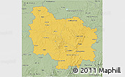 Savanna Style 3D Map of Bourgogne