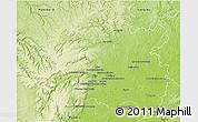 Physical 3D Map of Dijon
