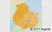 Political Shades Map of Côte-d'Or, lighten