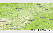Physical Panoramic Map of Côte-d'Or