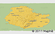 Savanna Style Panoramic Map of Côte-d'Or, single color outside
