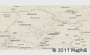 Shaded Relief Panoramic Map of Côte-d'Or