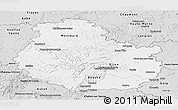 Silver Style Panoramic Map of Côte-d'Or