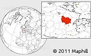 Blank Location Map of Bourgogne