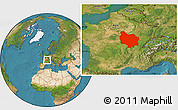 Satellite Location Map of Bourgogne