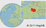 Savanna Style Location Map of Bourgogne