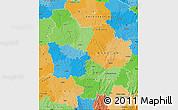 Political Map of Bourgogne